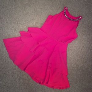 BRAND NEW - Hot Pink tiered dress (Girl size 8)